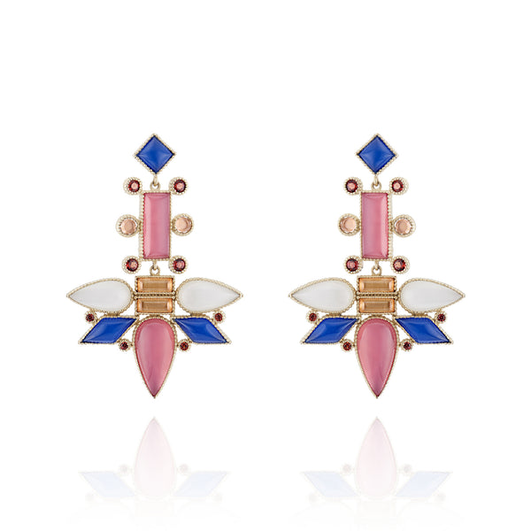 Cora Topsy-Turvy Chandelier Earrings