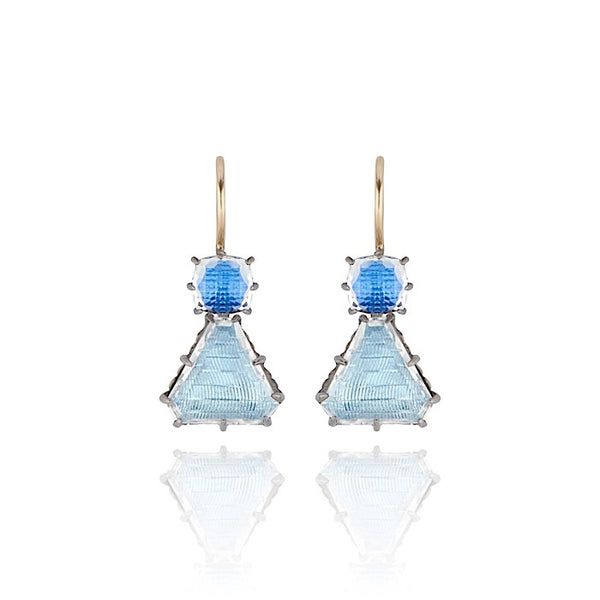 Caterina Geometric One-Drop Earrings