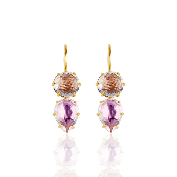 Caterina Round Pear Earrings