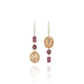 Arbor Eyelet Cage 3-Drop Earrings