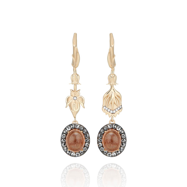 One-of-a-Kind Pavé Posy Pendant Earrings