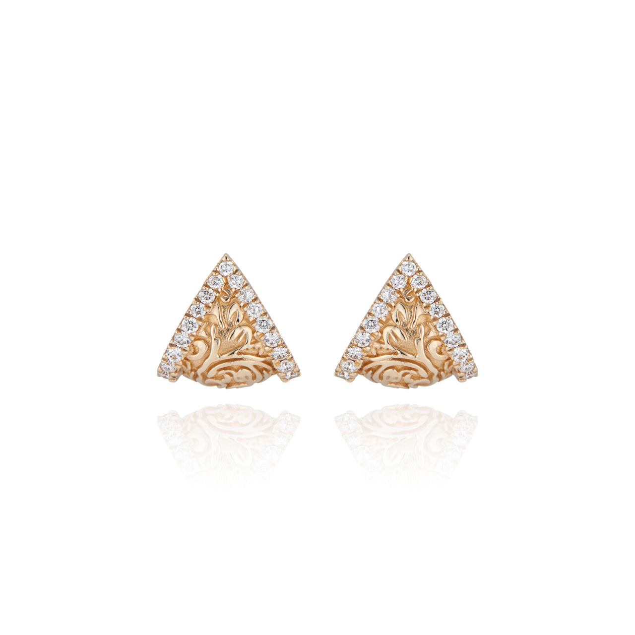 Arbor Pavé Shield Half Hoop Earrings