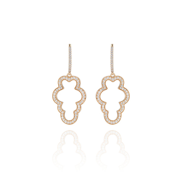 Cloud Pavé Hoop Earrings