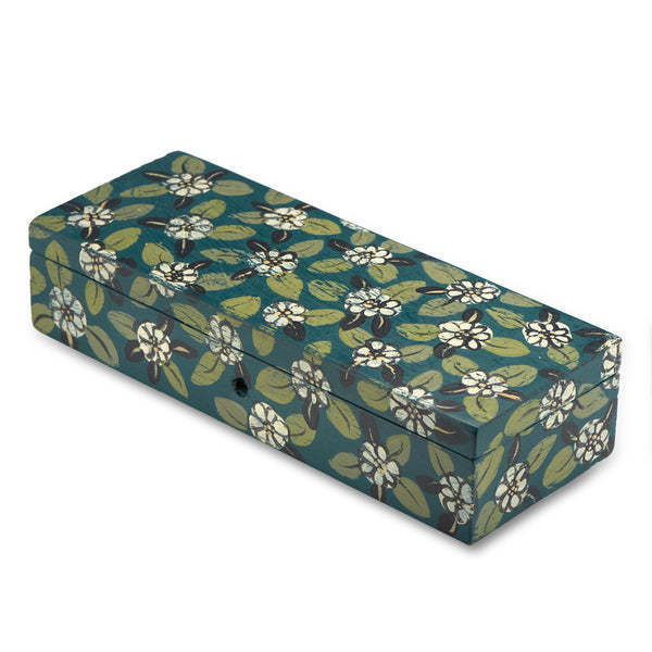 Daisy Leaf Handpainted Box