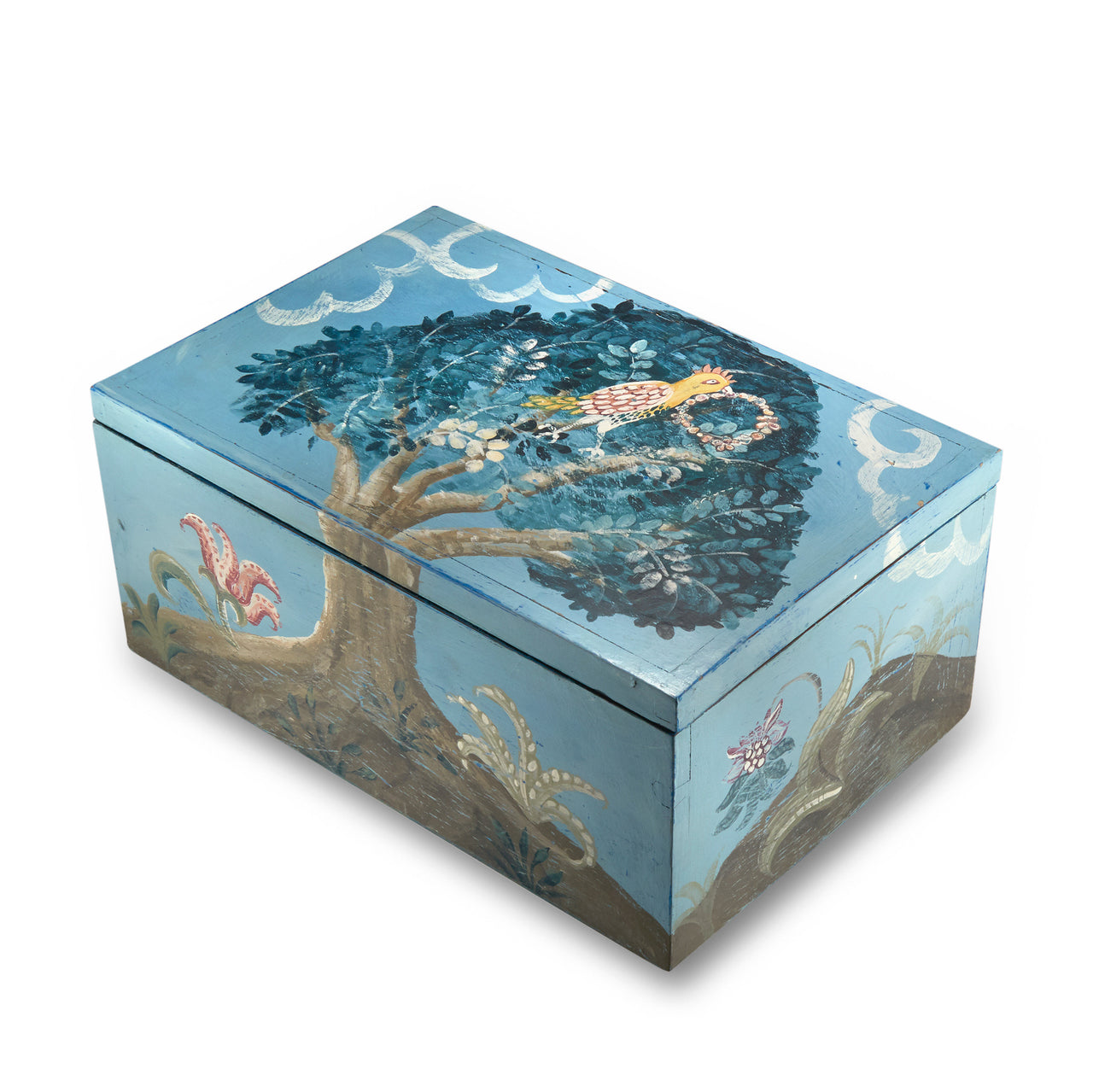 Parrot Handpainted Box