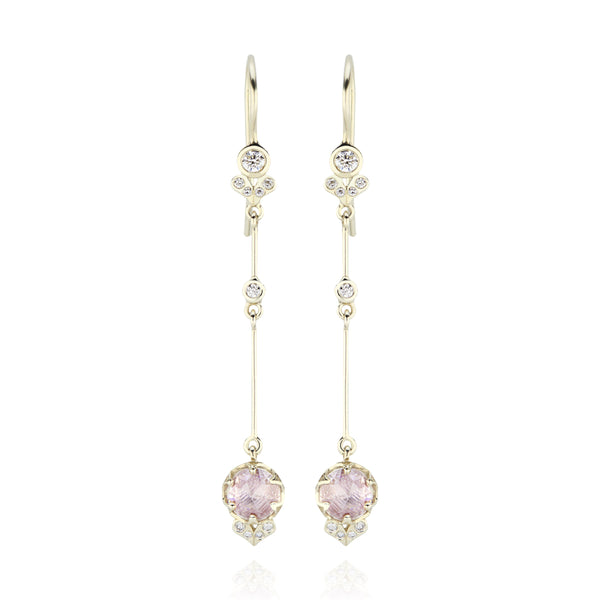 Ivy Long 1-Drop Cluster Earrings