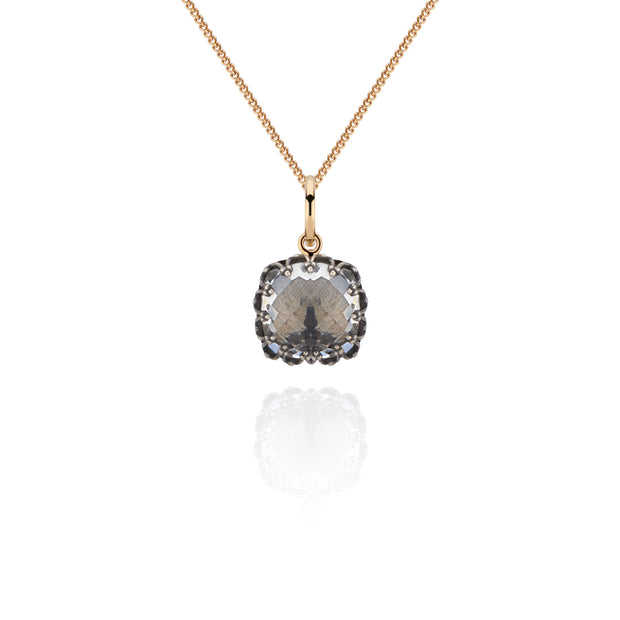 Dove / Black Rhodium Washed Sterling Silver and 14K Yellow Gold / -