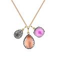 "Lady Emily Triple Cluster Charm 16"" Necklace"