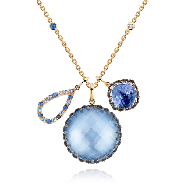 "Lady Emily Elements Cluster 22"" Necklace - Water"