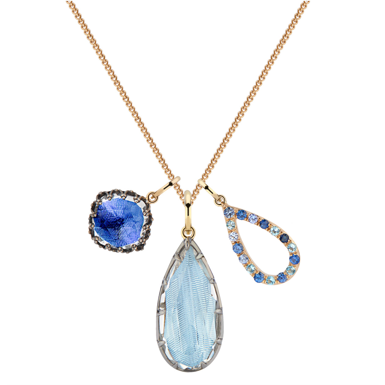 Lady Emily Elements Cluster Necklace - Water