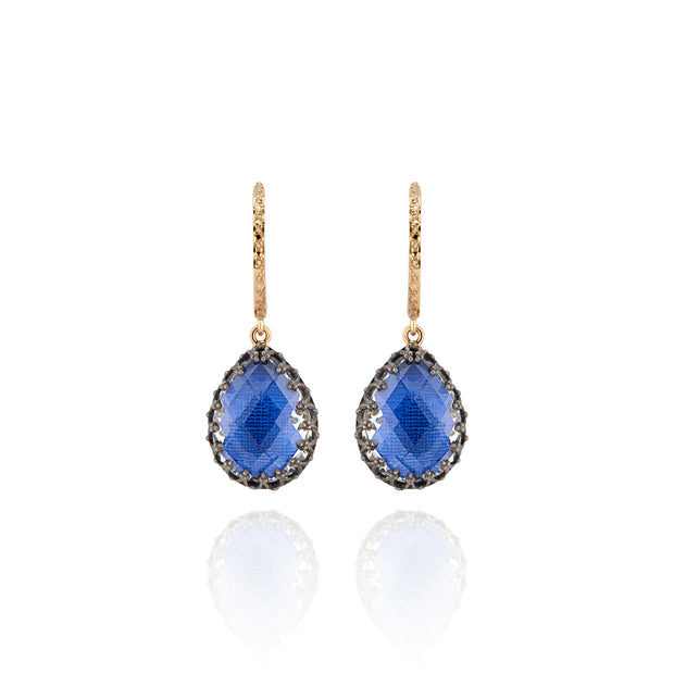 Cobalt / Black Rhodium Washed Sterling Silver and 14K Yellow Gold