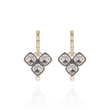 Ladies Diamond Open Hoops with Sadie Cushion Cluster Charms