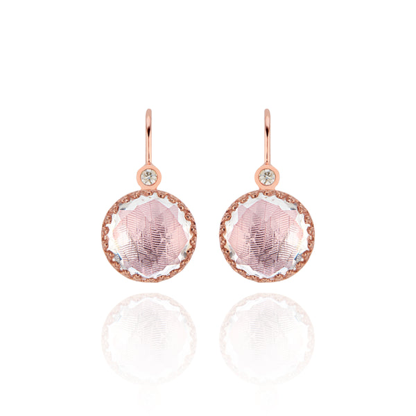 Small Olivia Button Diamond Earrings