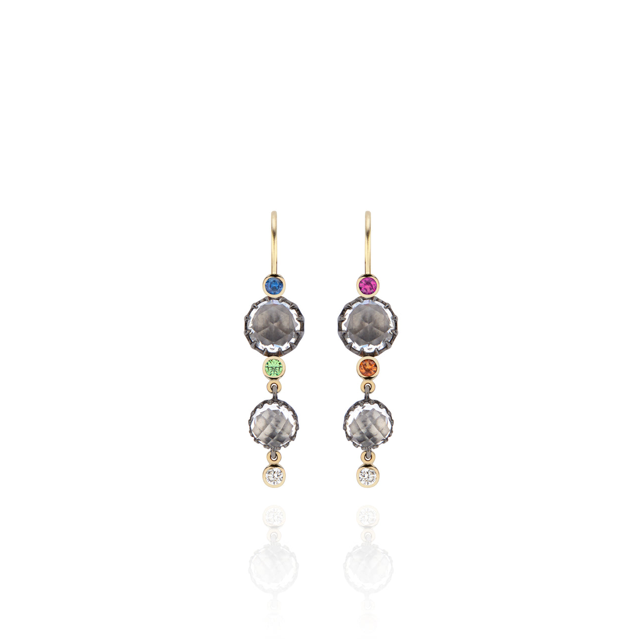 Sadie Cascade 2-Drop Earrings