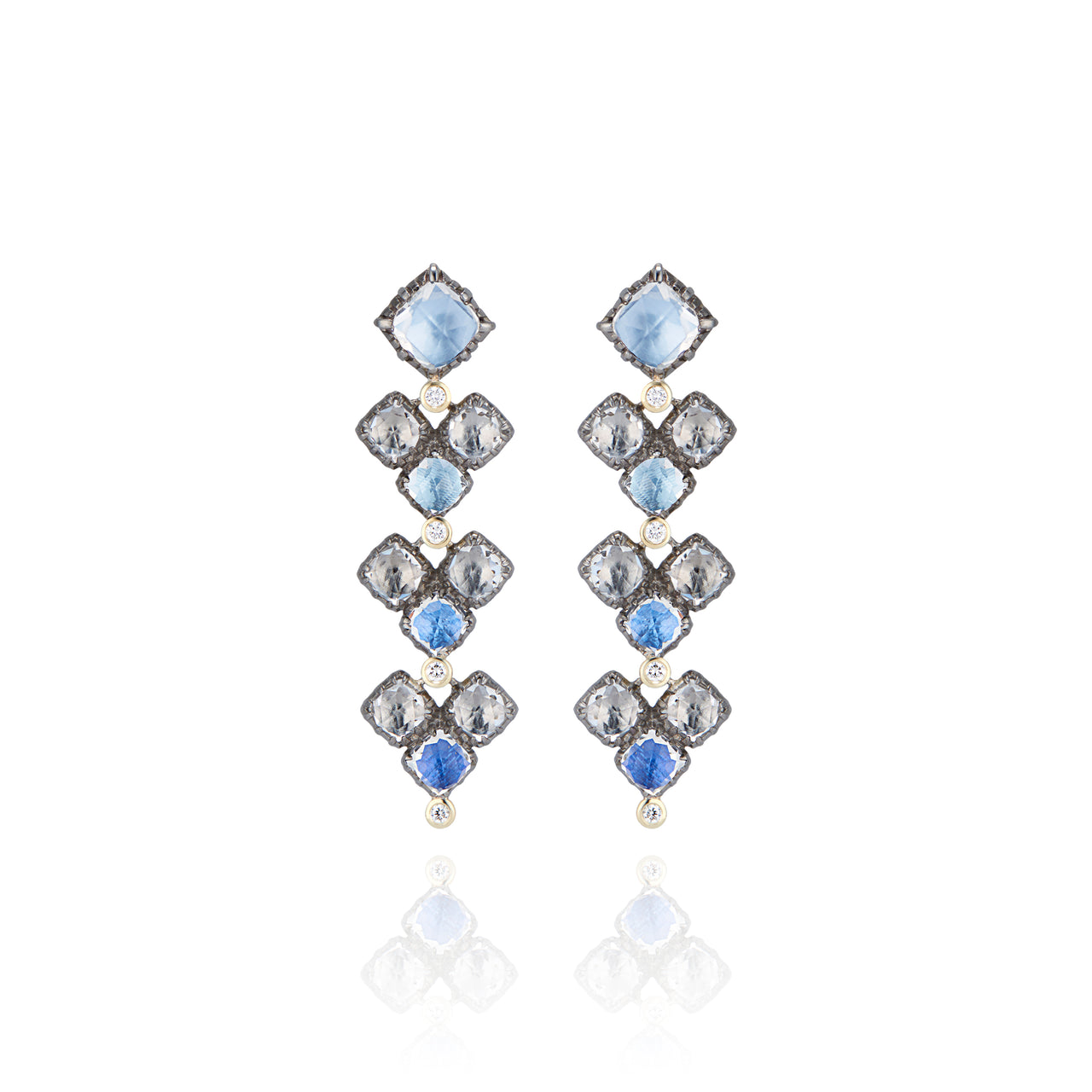 Sadie Cluster 4-Drop Earrings