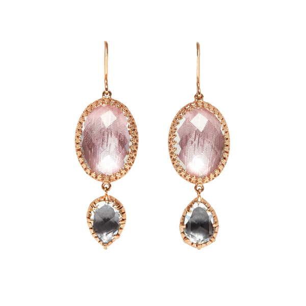 Sadie Oval And Pear Drop Earrings