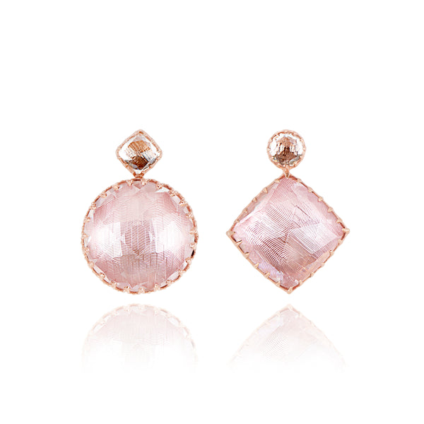 Sadie Mis-Matched Double Drop Earrings on Post