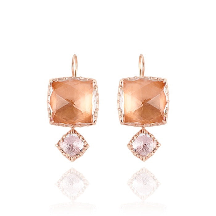 Sadie Matched Double Drop Earrings on Earwire