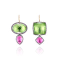 Sadie Mis-Matched Double Drop Earrings on Earwire