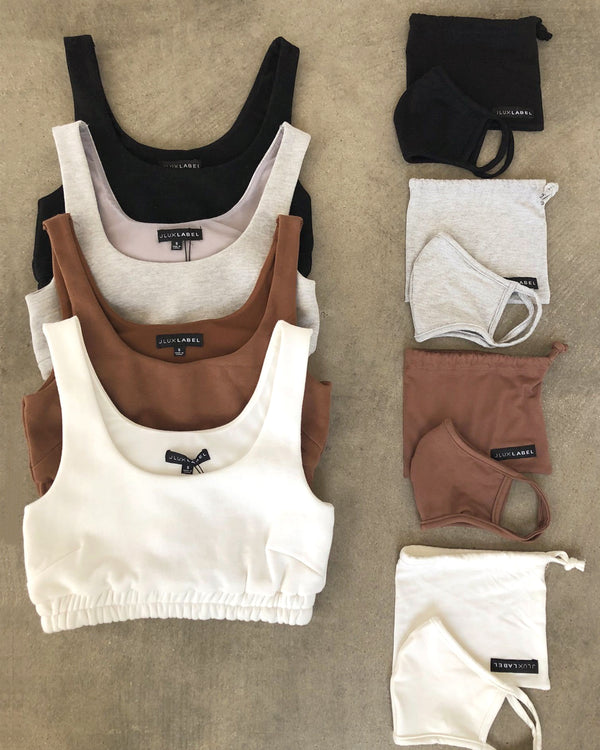 IVORY NADALA FLEECE CROP TOP