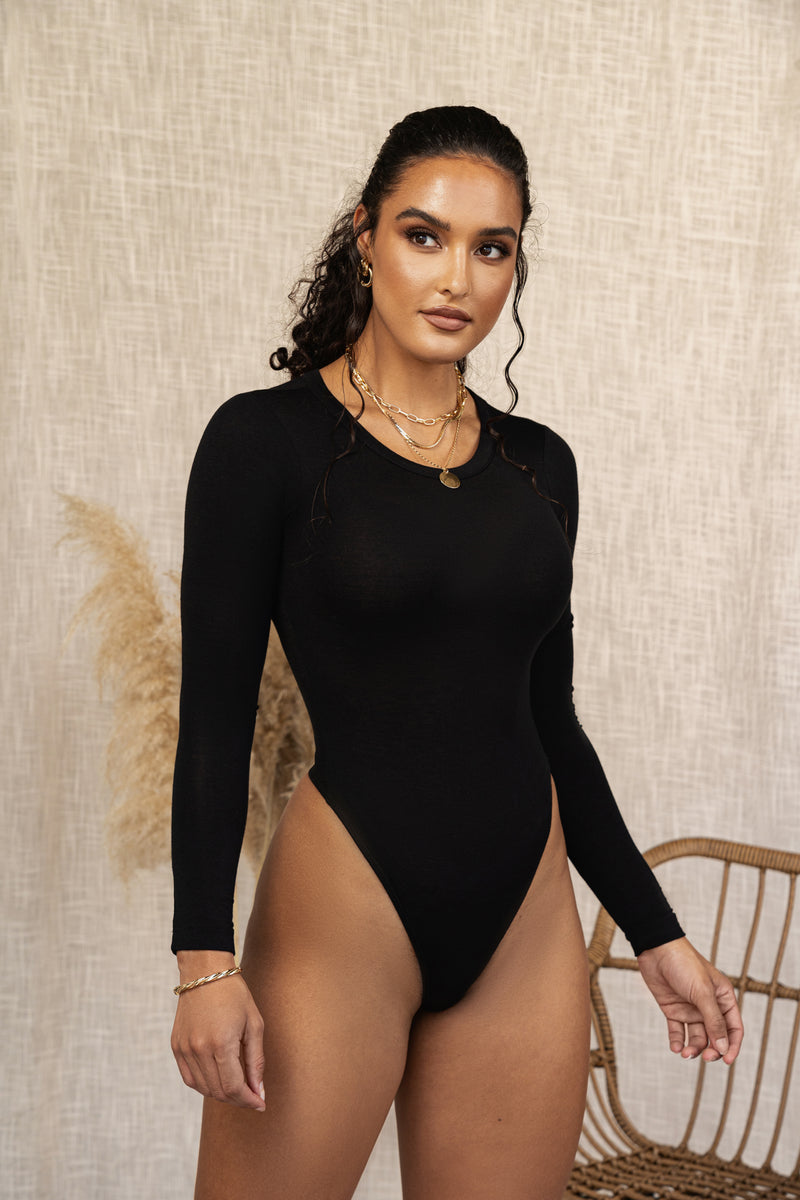 BLACK CADENCE ESSENTIAL BODYSUIT
