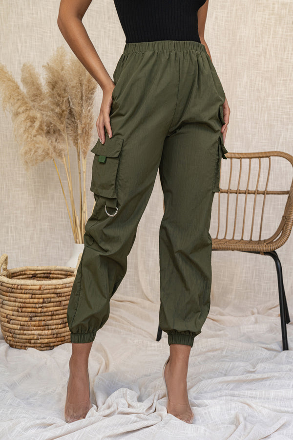OLIVE FLIGHT TRACK JOGGERS