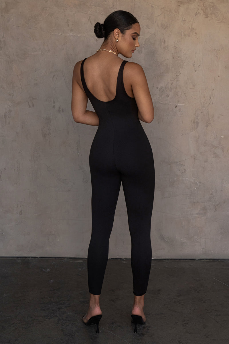 BLACK ALO DOUBLE LAYER JUMPSUIT