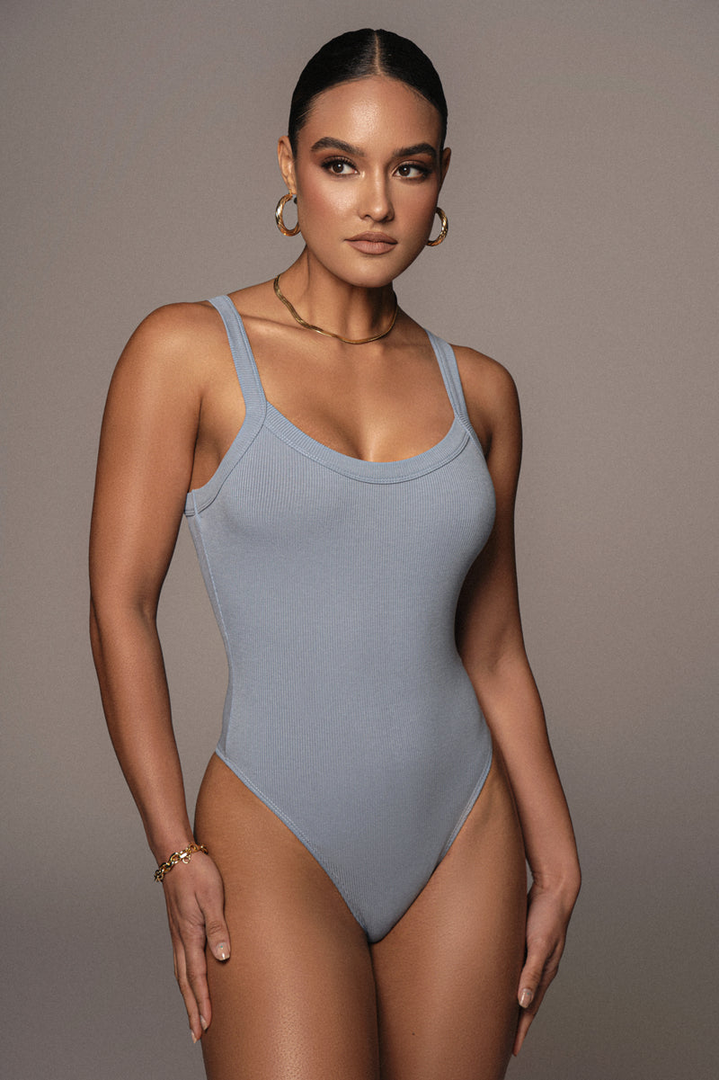 SKY BLUE AKITO RIBBED BODYSUIT