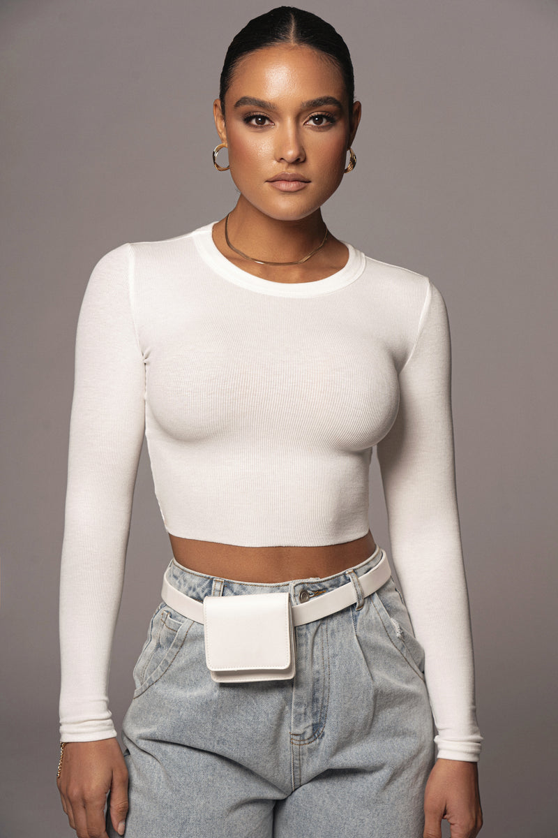 IVORY SYRLA RIBBED TOP