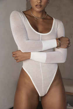 IVORY RUSSIA SHEER BODYSUIT