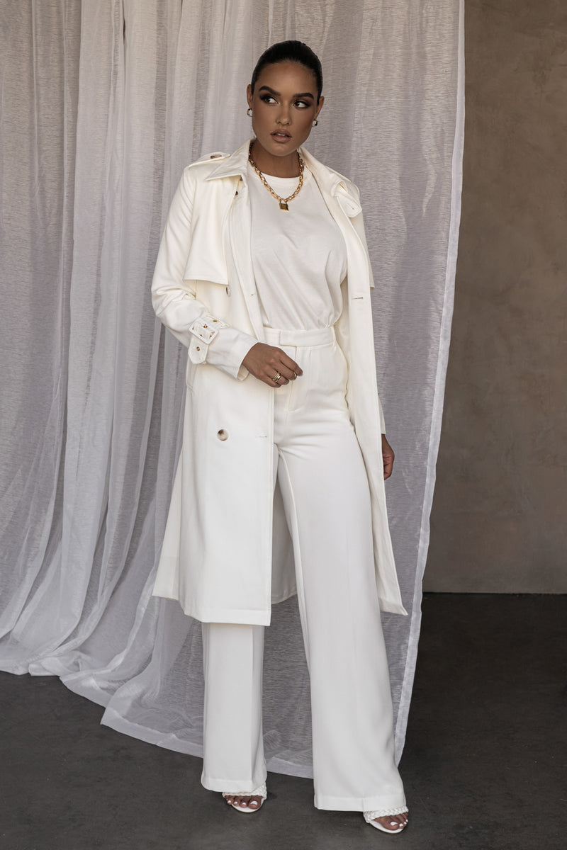 IVORY ALLIE TRENCH COAT