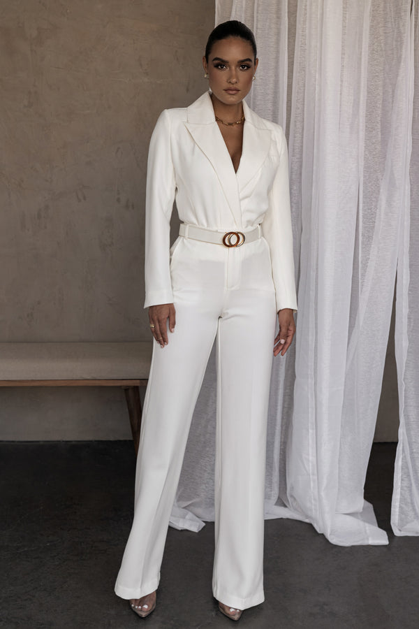 WHITE LEWIN TAILORED TROUSERS