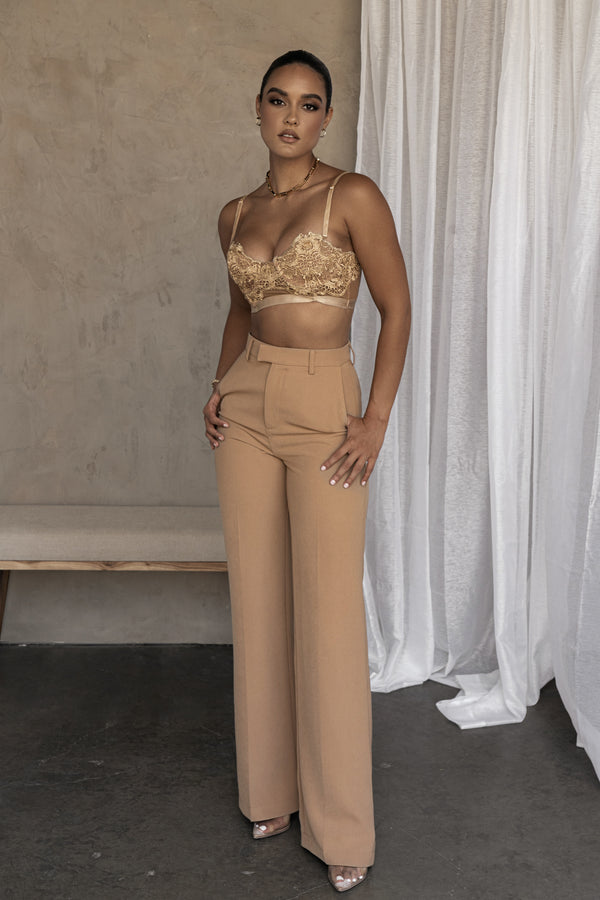 TAN RYLEE LACE BUSTIER