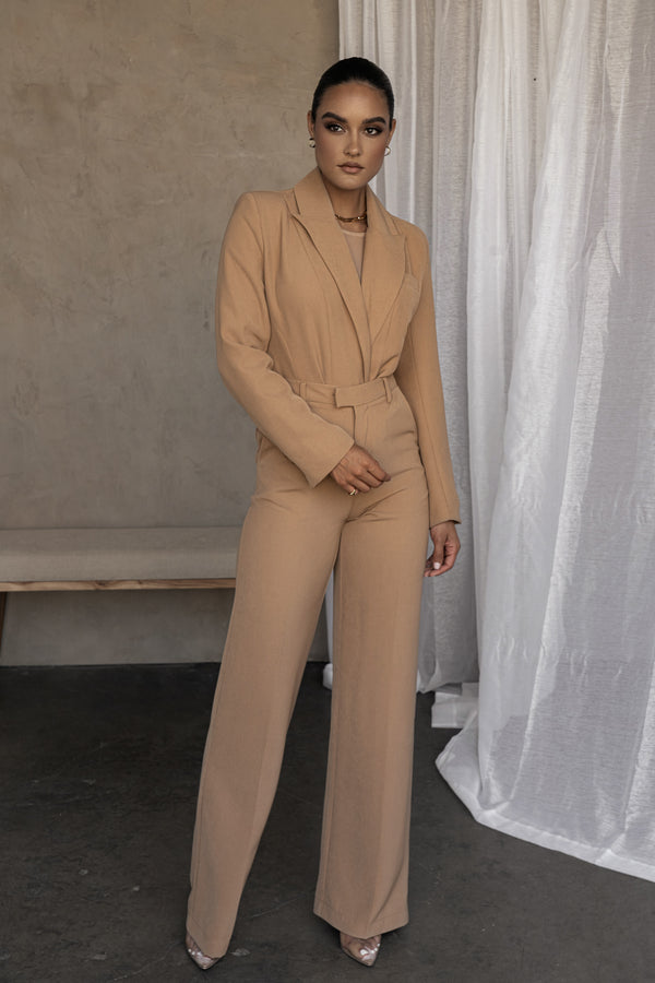 TAN LEWIN TAILORED TROUSERS