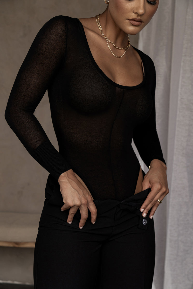 BLACK RUSSIA SHEER BODYSUIT