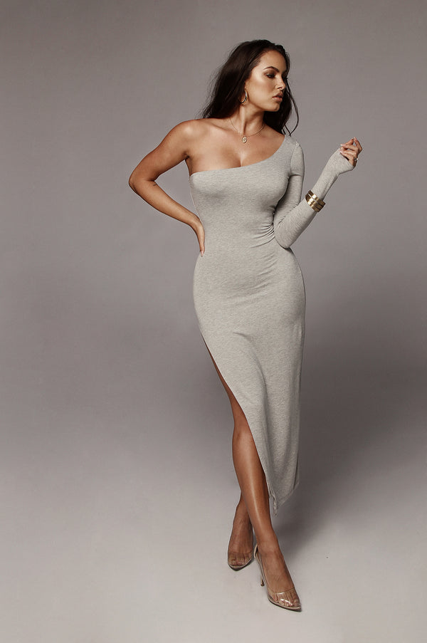 Grey Jules High Slit Dress