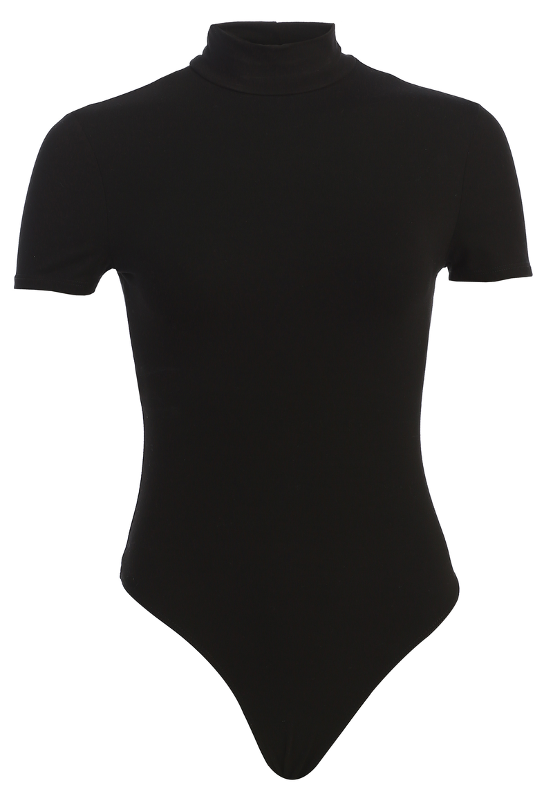 BODYBASIX BLACK JANE HIGH NECK BODYSUIT