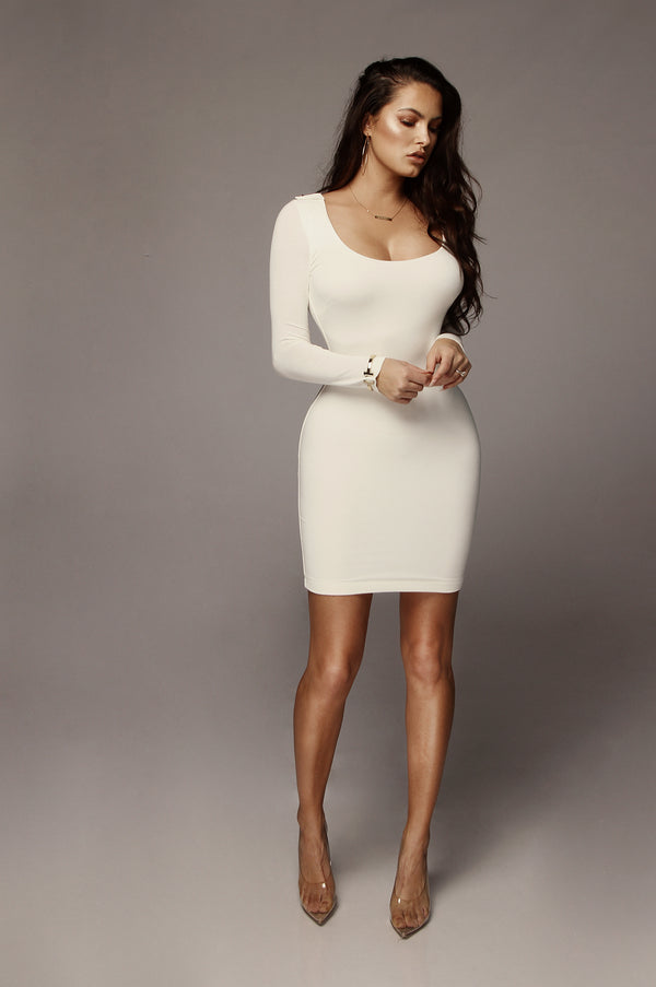 Ivory Cassie JLUXBASIX Mini Dress