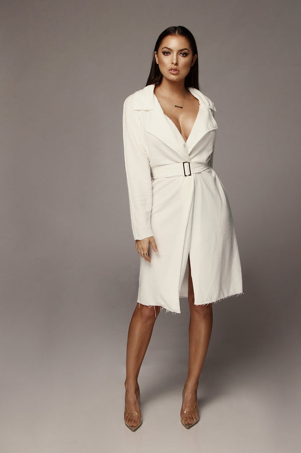 White Naria Dress Coat