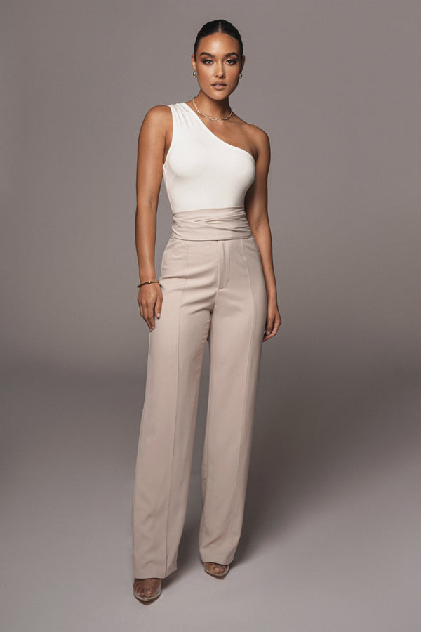 CREAM SAFIYA WIDE LEG PANTS