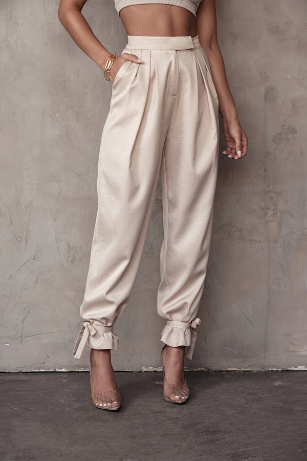 TAUPE CAMILLE WOVEN PANTS