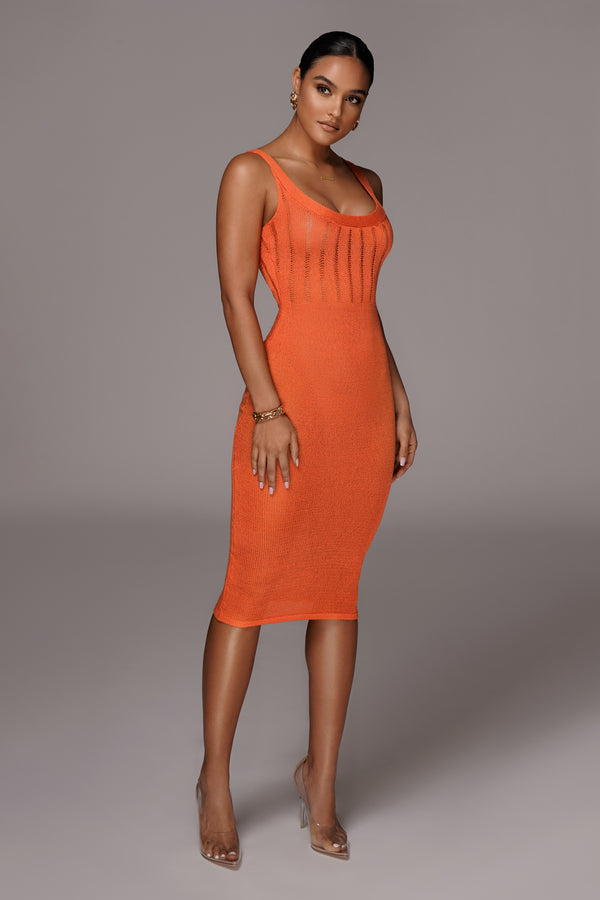 ORANGE LULIANA SWEATER DRESS