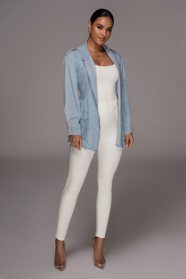 Light Denim Hermoine Chambray Jacket