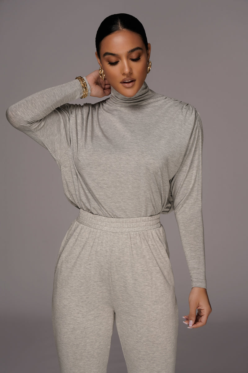 Grey Whitley Oversized Top