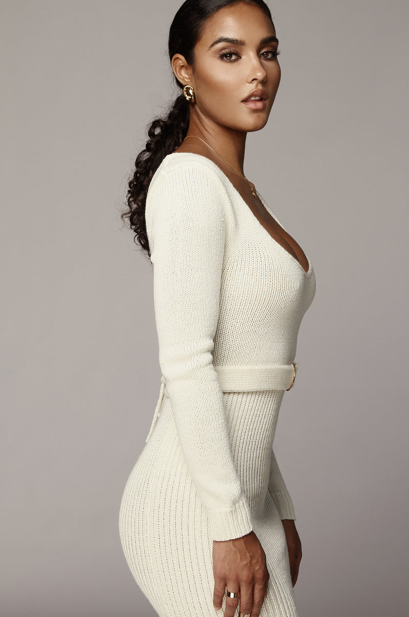 Ivory Claire Sweater Dress