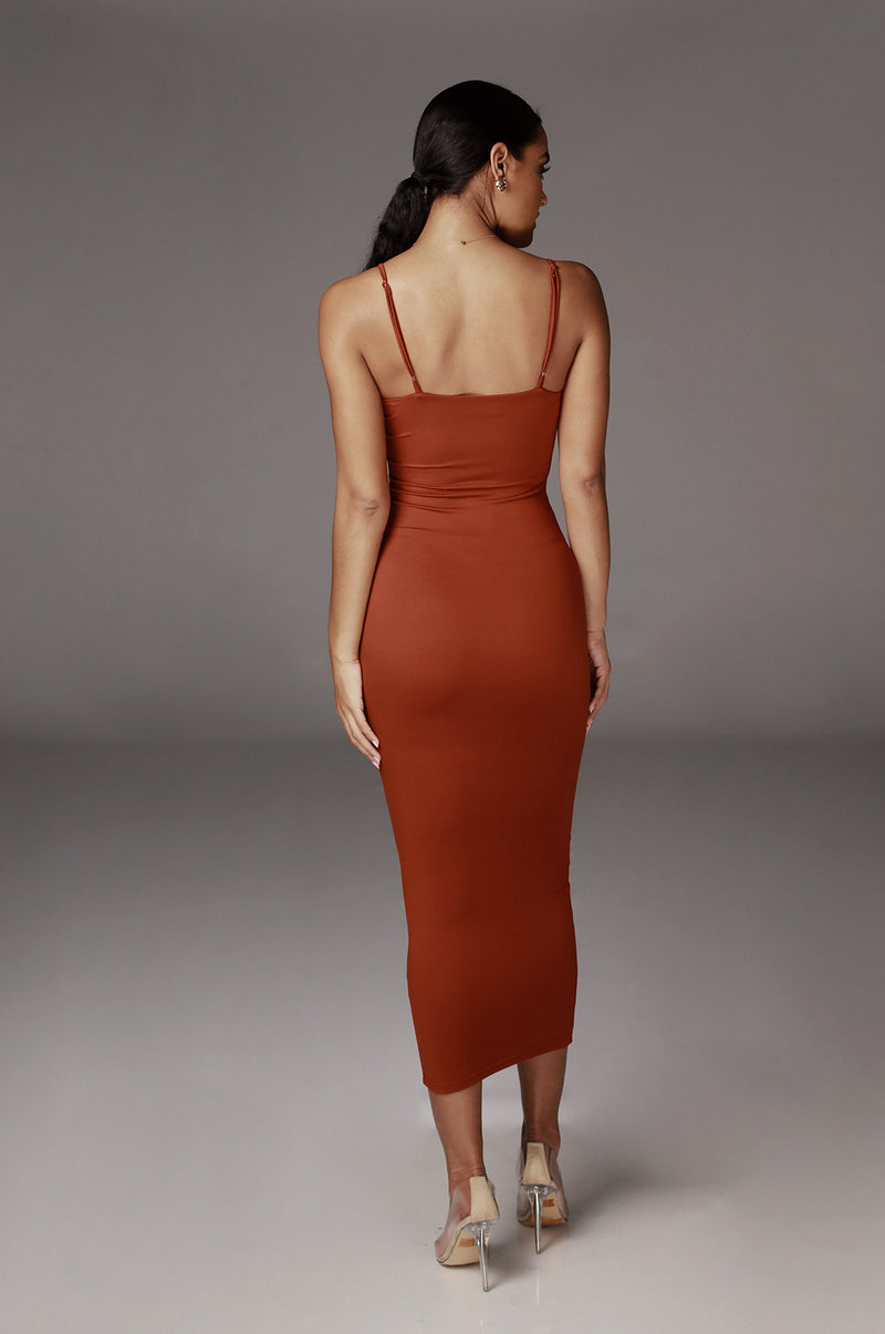 Rust Hadley JLUXBASIX Soft Maxi Dress