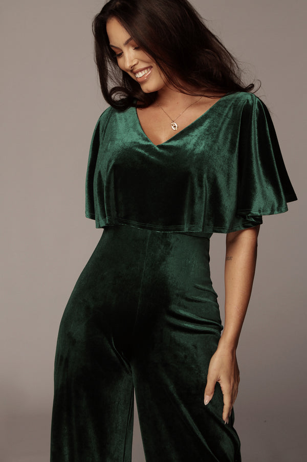 Emerald Edith Off The Shoulder Jumpsuit