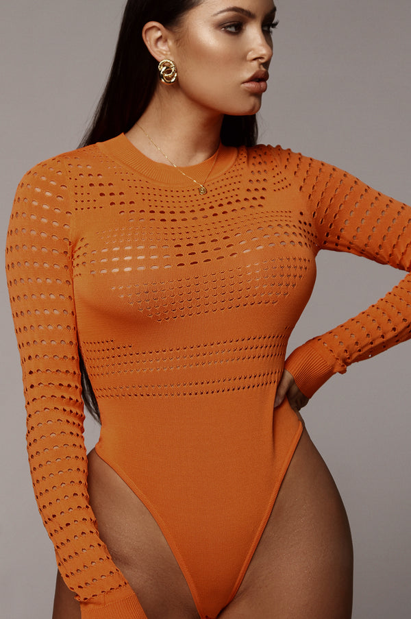 Orange Cia Jacquard Bodysuit