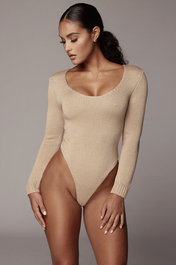 Taupe Alize Sweater Bodysuit