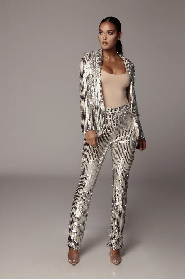 Blinded Sequin Blazer Set